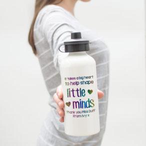 Personalised Rainbow Teacher Water Bottle
