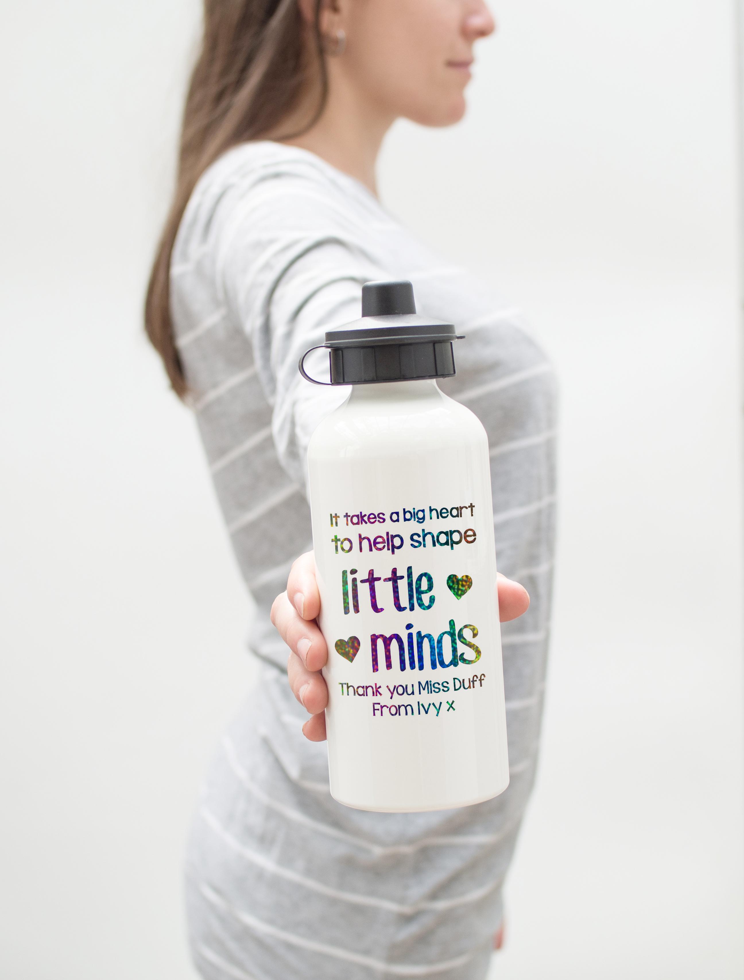 b8a6671da0 Personalised Rainbow Teacher Water Bottle | Love Unique Personal