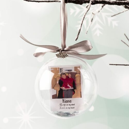 Personalised Photo Inside Christmas Bauble