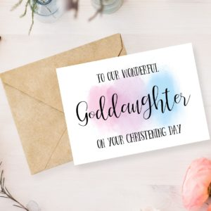 Personalised Goddaughter Card