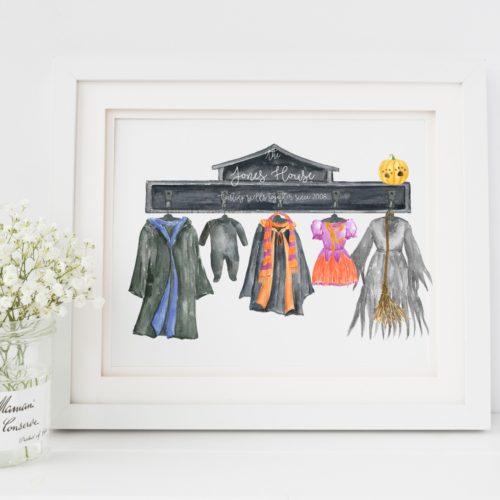 Personalised Halloween Cloak Print