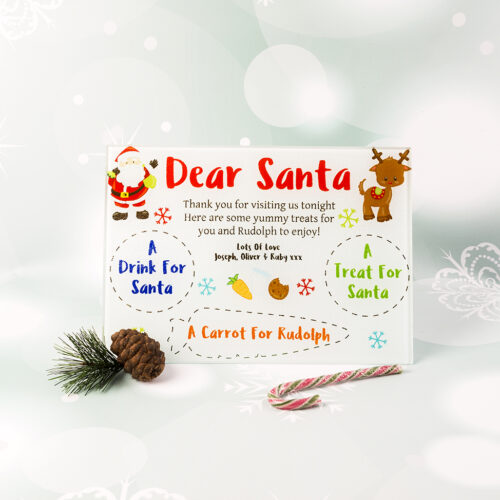 Personalised Glass Santa Treat Board