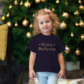 "Personalised Kids ""Believe"" Tshirt"