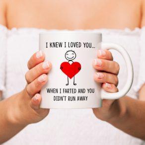 I Knew I Loved You Personalised Mug