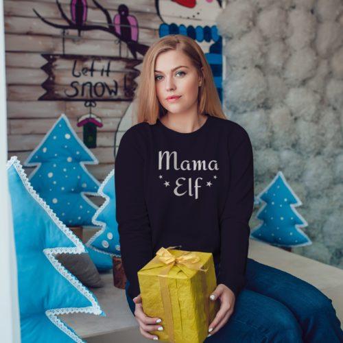 Personalised Mama Elf Christmas Jumper