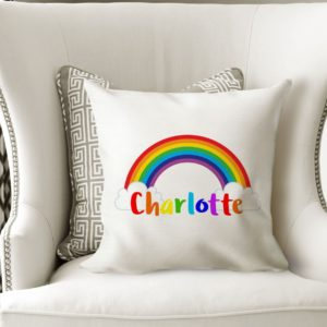 Personalised Rainbow Cushion Cover