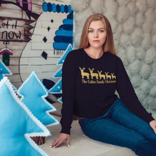 Personalised Reindeer Family Christmas Jumper