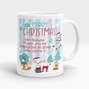 Personalised Christmas Teacher Mug