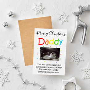Personalised Christmas Baby Scan Card