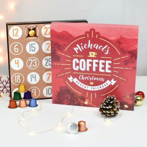 Personalised Nespresso Coffee Advent Calendar Box