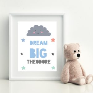 Dream Big Personalised Print
