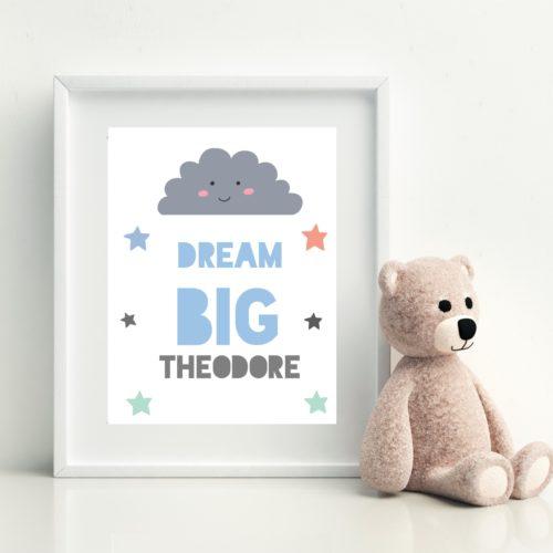 Dream Big Personalised Print