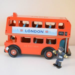 Personalised Classic London Bus Toy