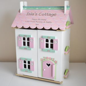 Personalised Sweetheart Cottage Wooden Dolls House