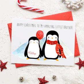 Personalised Sibling Christmas Card