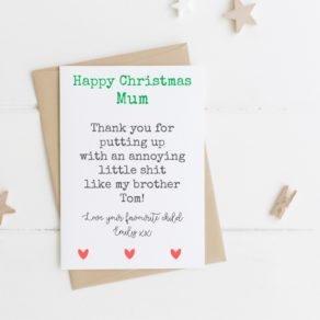 Favourite Personalised Christmas Card