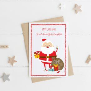 Personalised Santa Christmas Card