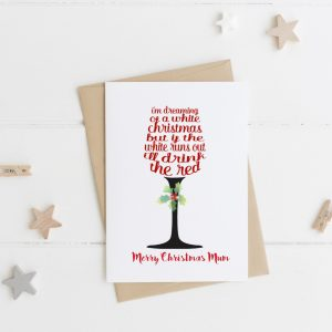 Personalised White Christmas Card