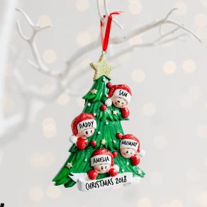 Personalised Christmas Tree Family Decoration
