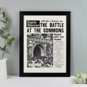 Personalised Front Page Newspaper Print
