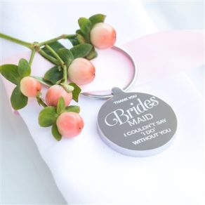 Personalised Bridesmaid Wedding Keyring