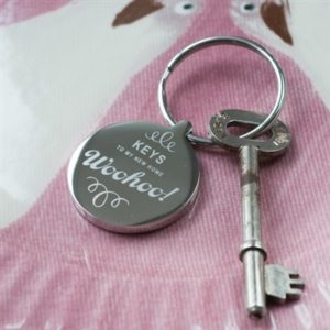 WooHoo New Home Personalised Keyring