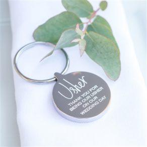 Personalised Usher Wedding Keyring