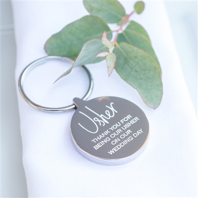 Personalised Usher Wedding Keyring