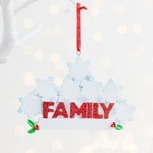 Personalised Snowflake Christmas Family Decoration