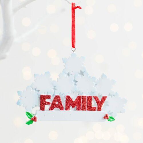 Personalised Snowflake Christmas Family Decoration