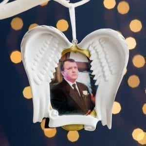 In Loving Memory Remembrance Frame Personalised Hanging Christmas Decoration