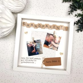 Grandparents Personalised Scrabble Frame