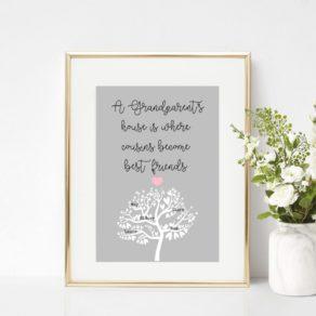 Grandparents Personalised Family Print