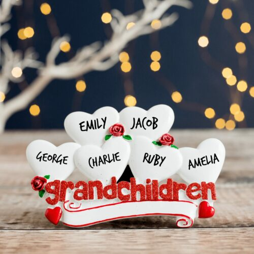 Personalised Grandchildren Table Top Decoration
