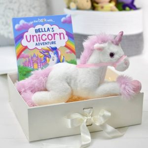 Personalised Unicorn Story Plush Toy Giftset