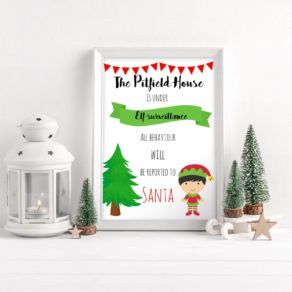 Elf Surveillance Personalised Print