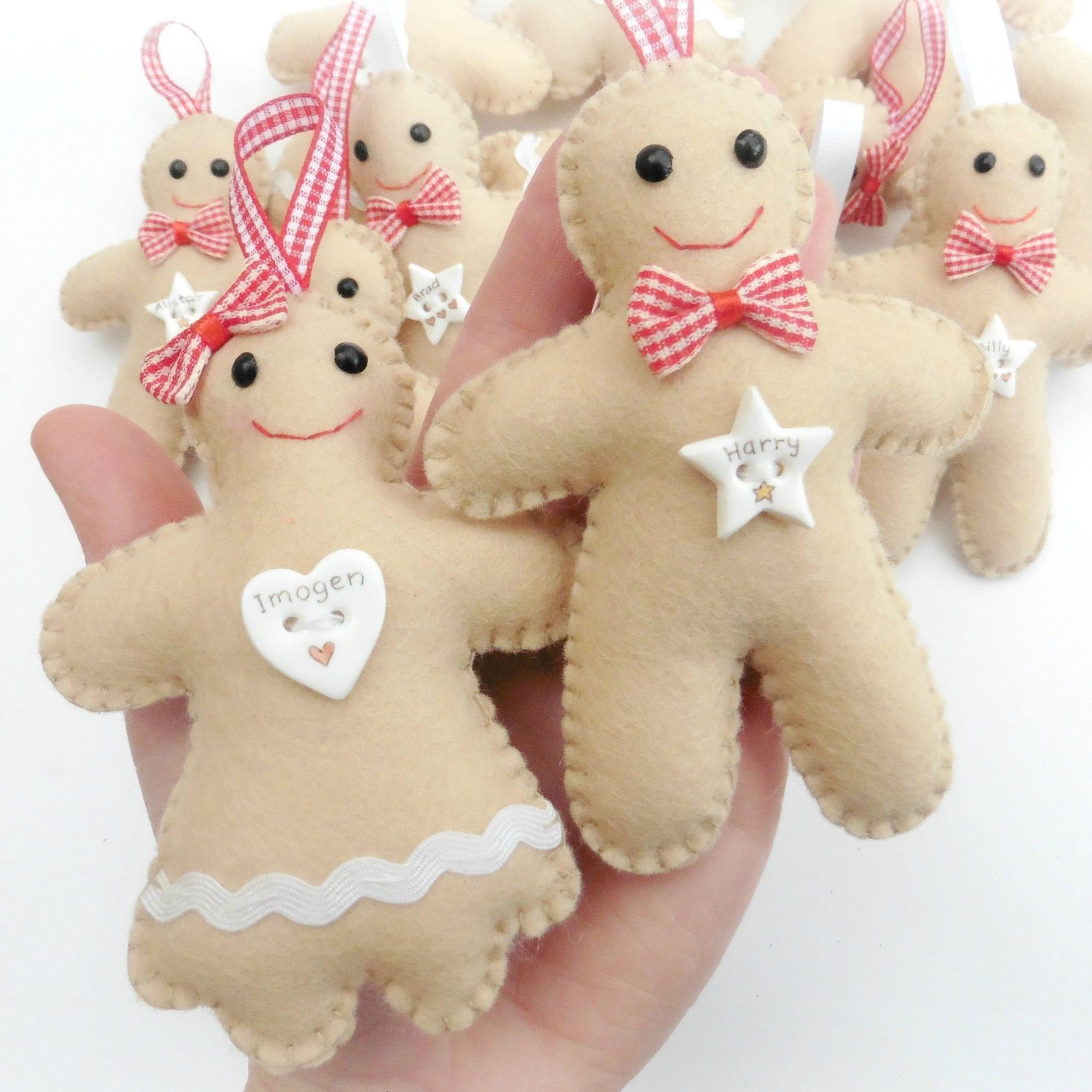 Personalised Felt Gingerbread Decoration