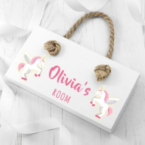 Personalised Baby Unicorn Door Sign