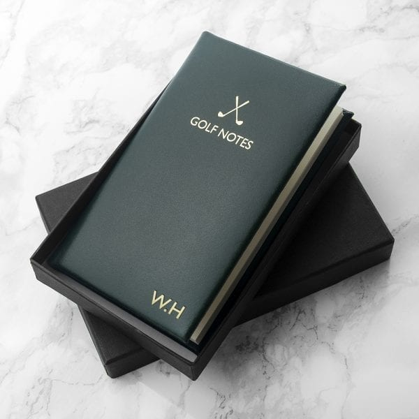 Personalised Luxury Leather Golf Notebook