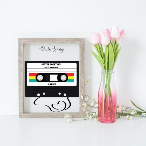 Personalised Cassette Tape Print
