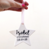 Ceramic Star Christening Keepsake