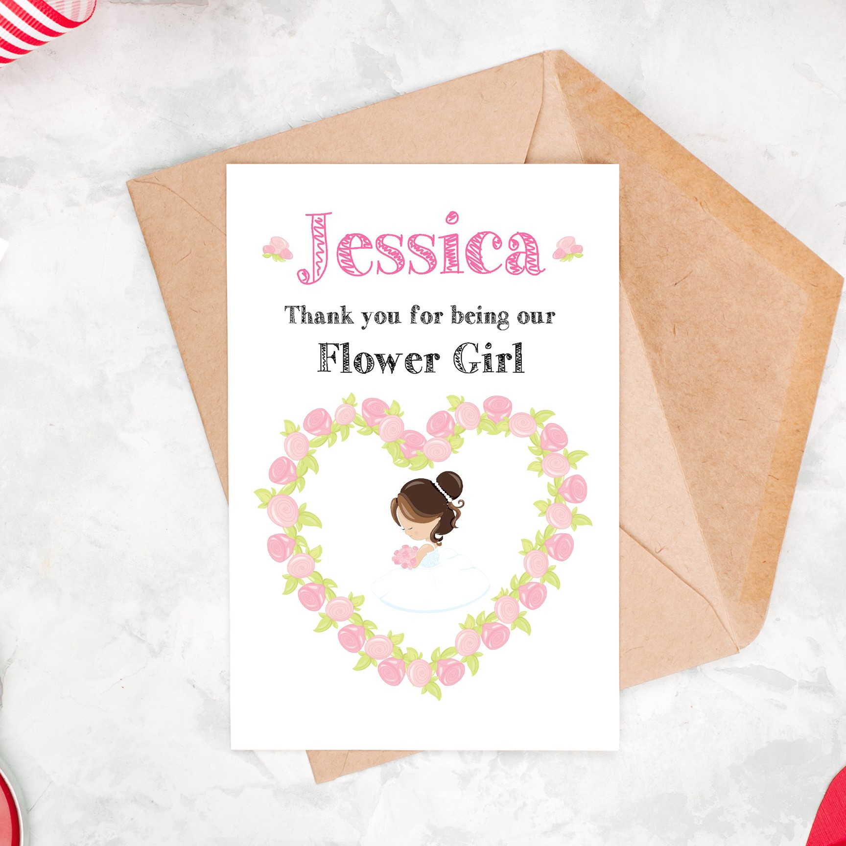 Thank You For Being Our Flower Girl Card