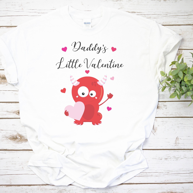 Personalised Valentine Monster T-shirt