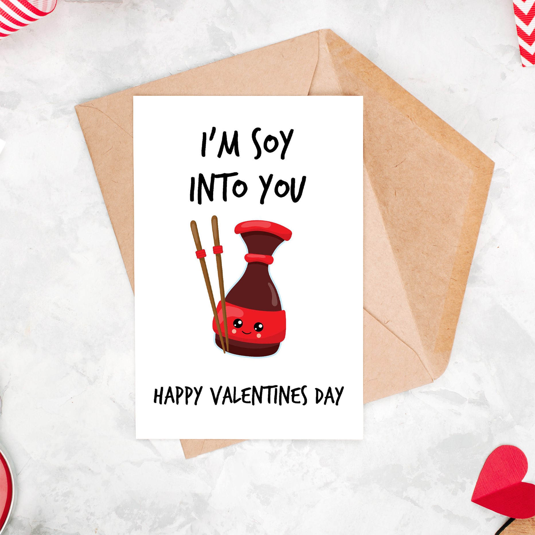 Love Unique Personal I M Soy Into You Valentine S Day Card