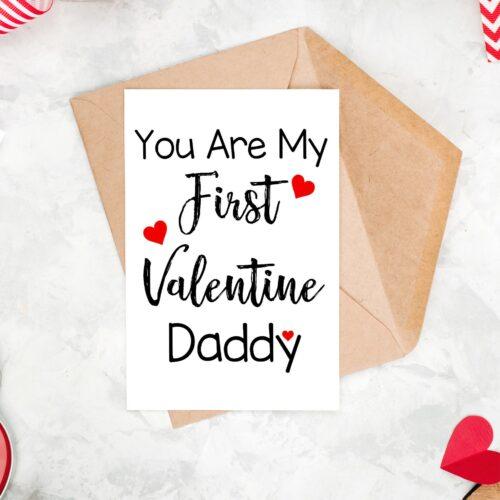 First Valentine Daddy Card