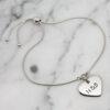 Personalised Small Heart Slider Bracelet