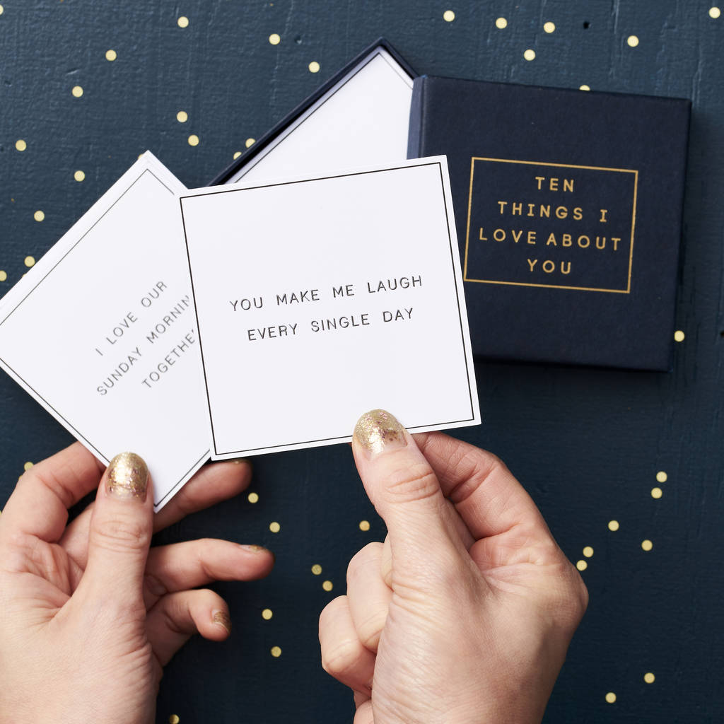 Personalised '10 Things I Love…' Message Box