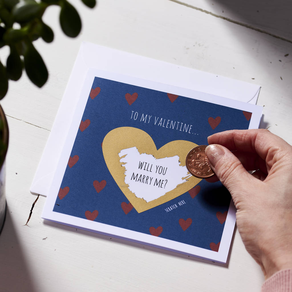 Personalised Love Heart Scratch Card