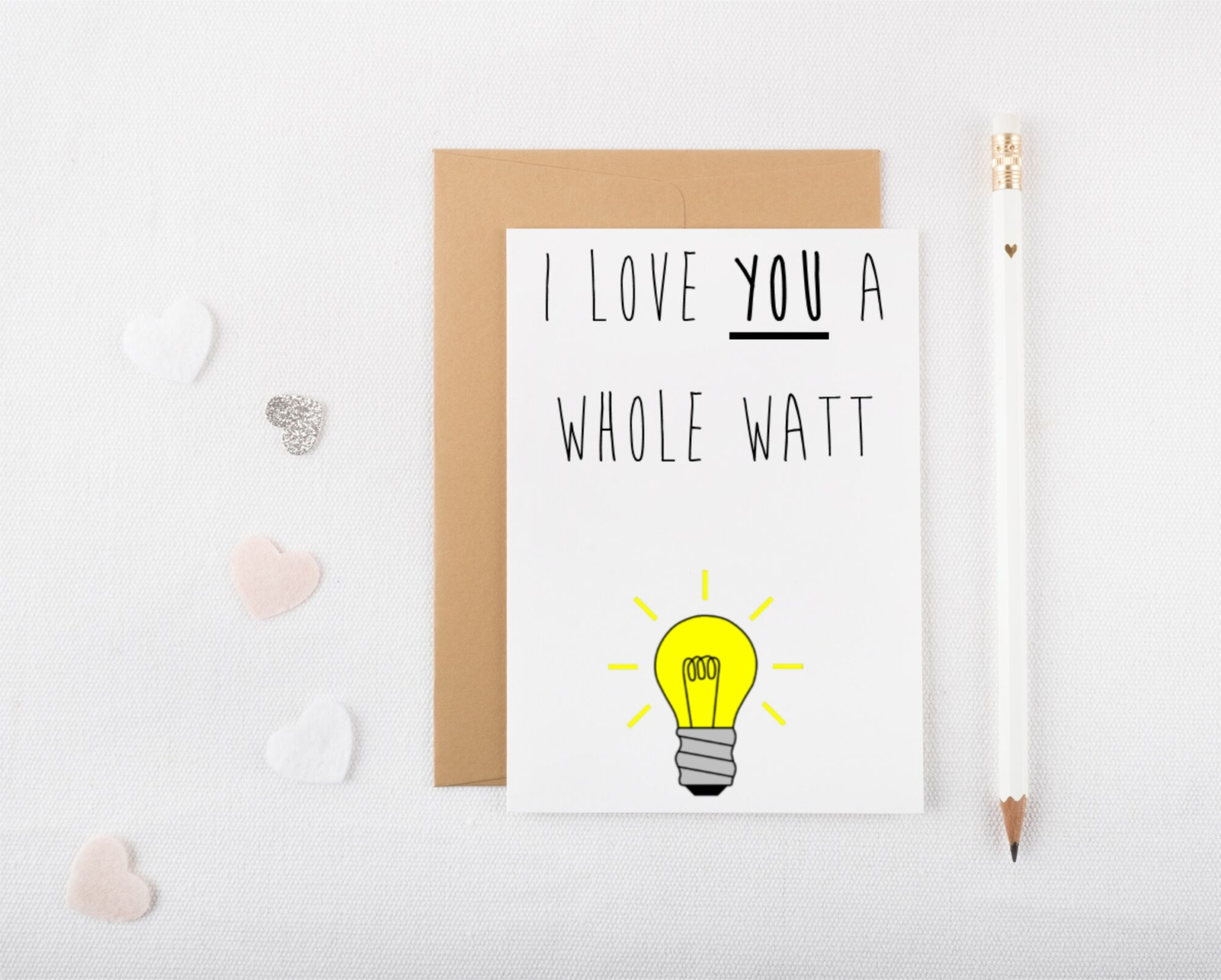Whole Watt Valentines Card