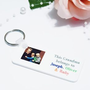 Personalised Grandma Photo Keyring